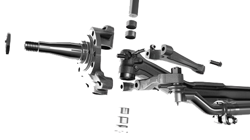 Front Steer Axle Transparent